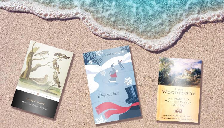 Lord Lisvane's 3 book choices appear on a sandy beach